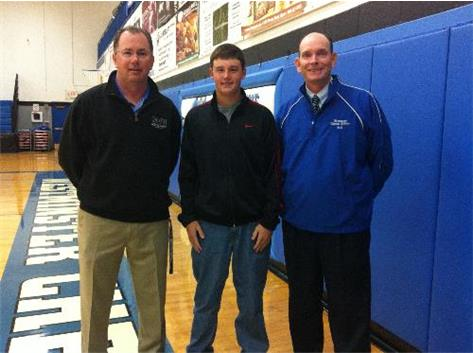 AD - Rick Palmer, Jr. - Connor Rejman, Golf coach John Wedell before Conner heads to the 2012 Class 1A State Golf FInals in Bloomington, IL