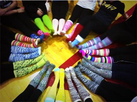 Close up of our Crazy Socks on 3/21/2014 to help bring awareness and support to World Down Syndrome Day!