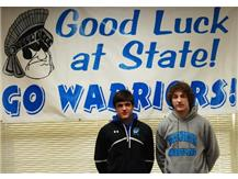 Varsity Wrestlers Matt Rowland and Jake Kroeger Advance to State