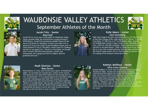 September Athletes of the Month!!