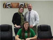 Kristy Santora signing with Roosevelt University