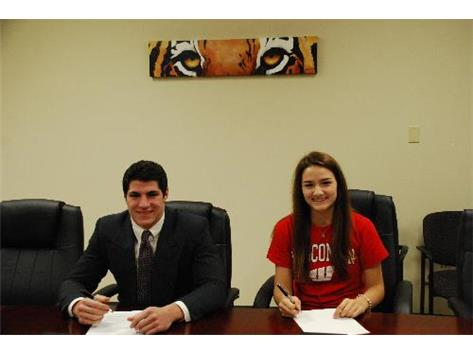 Dan Vitale signs with Northwestern. Lexi Peterson signs with Wisconsin.