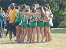 Girls Cross Country getting ready at Katherine Legge Park