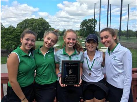 JV Girls Invite Champs - Mia Spedal the medalist of the tournament.