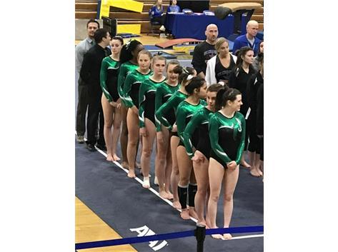 Girls Gymnastics 3rd place at Regionals