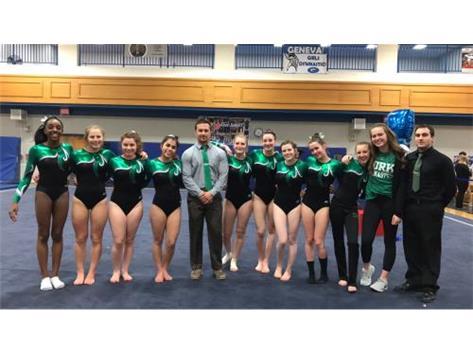 Varsity Girls Gymnastics 3rd place at Regionals