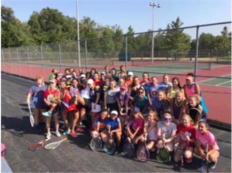 JV Tennis Super Hero Practice
