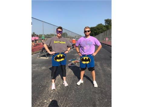 JV Tennis Super Hero Coaches