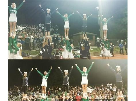 Varsity Cheer Stunting with AT