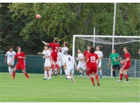 Varsity Soccer action vs Hinsdale Central 5-1 Victory