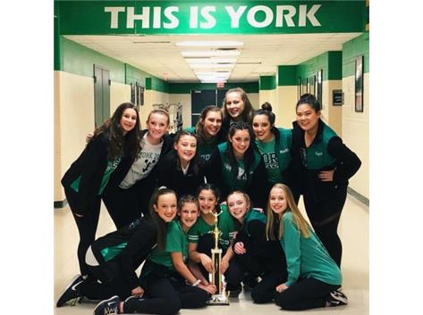 JV Poms 1st Place Andrew HS Competition