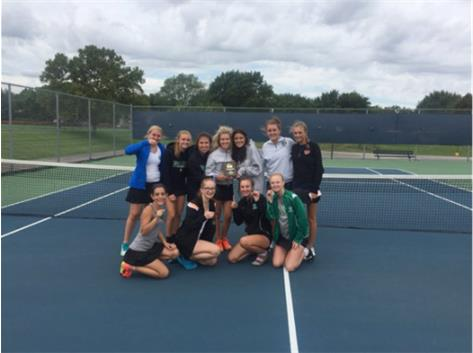 Tennis 1st Place at Buffalo Grove