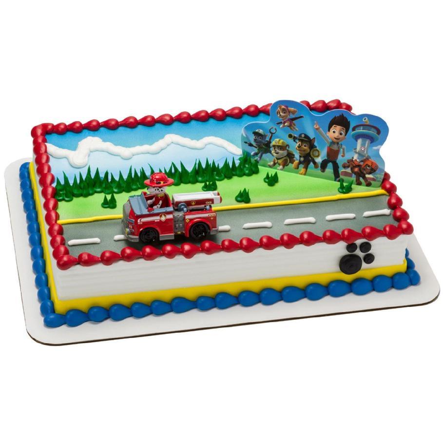 Paw patrol cake topper punchbowl
