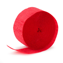 Holiday Red (Red) Crepe Paper (1 roll)