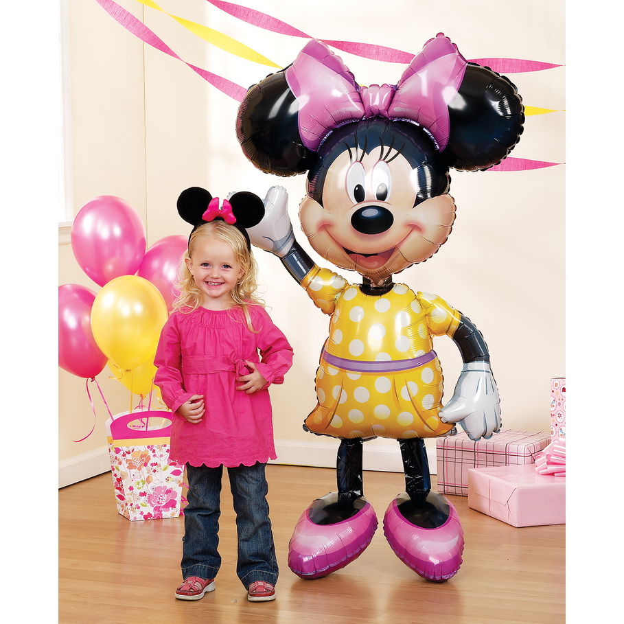 "Minnie Mouse Airwalker Jumbo 54"" Foil Balloon, Minnie Party Supplies"