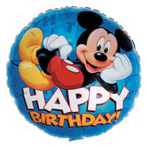 "Disney Mickey Happy Birthday 18"" Foil Balloon"