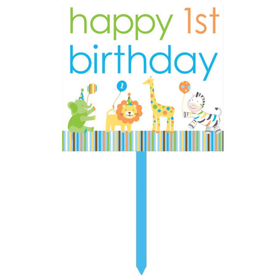 1st Birthday Card Boy Boy Safari 1st Birthday Yard