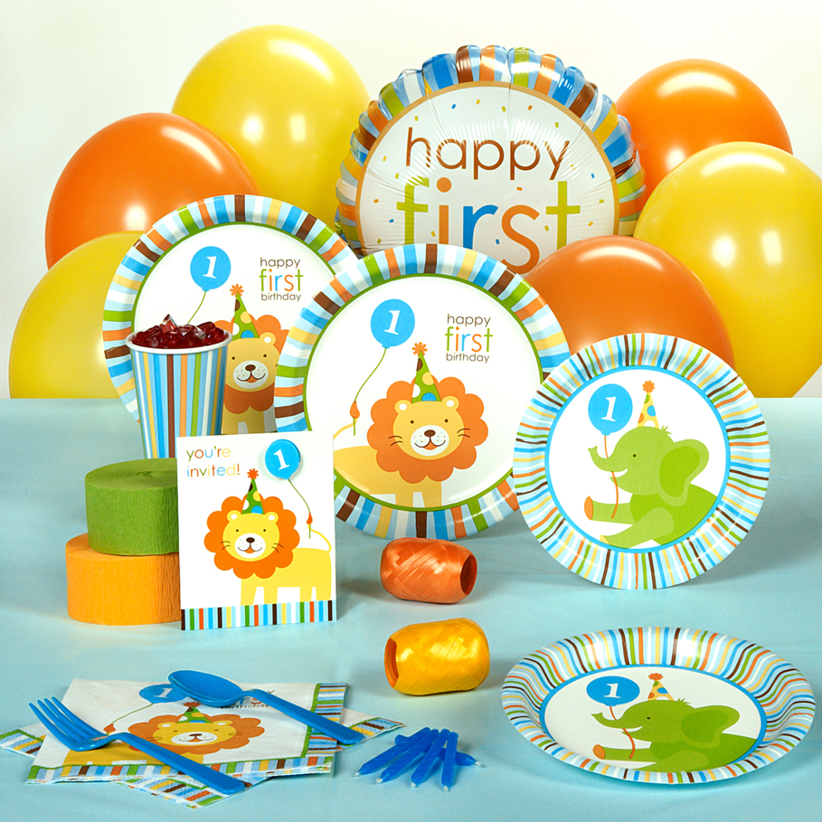 Boy Safari 1st Birthday Party Supplies, Safari Birthday | Punchbowl