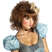 Cutie Doll Brown Adult Wig