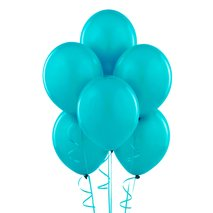 "Bermuda Blue (Turquoise) 11"" Matte Balloons (6 count)"