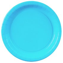 Bermuda Blue (Turquoise) Paper Dessert Plates (24)