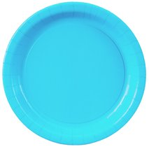 Bermuda Blue (Turquoise) Paper Dinner Plates (24)