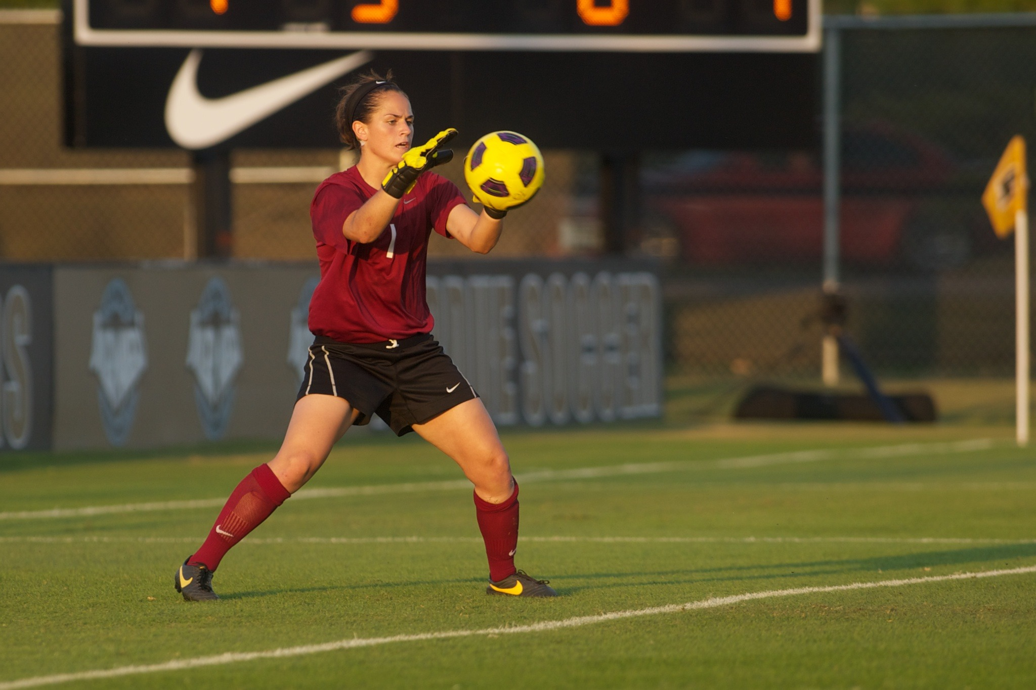 Goalkeeper Jordan Ginther made a career-high eight saves in the loss.