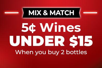5¢ Wines Under $15
