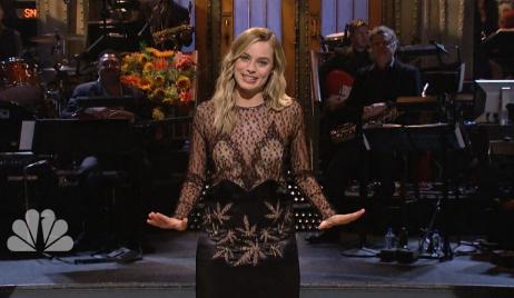 Margot Robbie Pot Leaf Dress