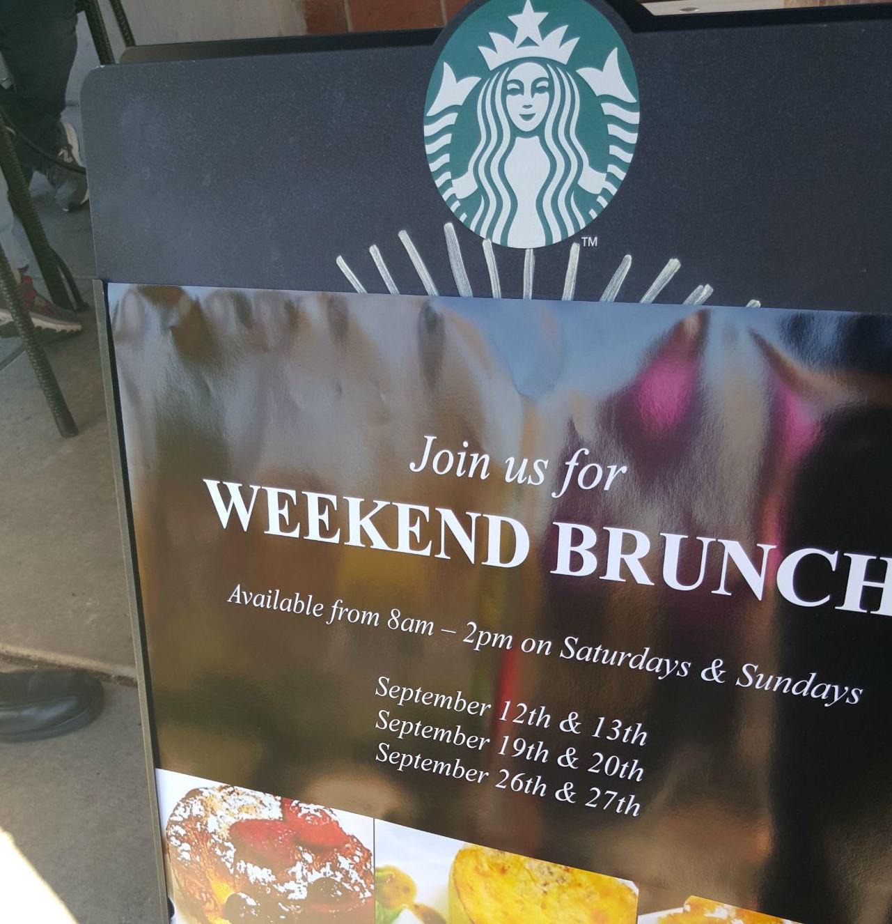 Starbucks Brunch