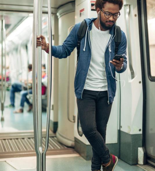 Subway Man Bigger Image