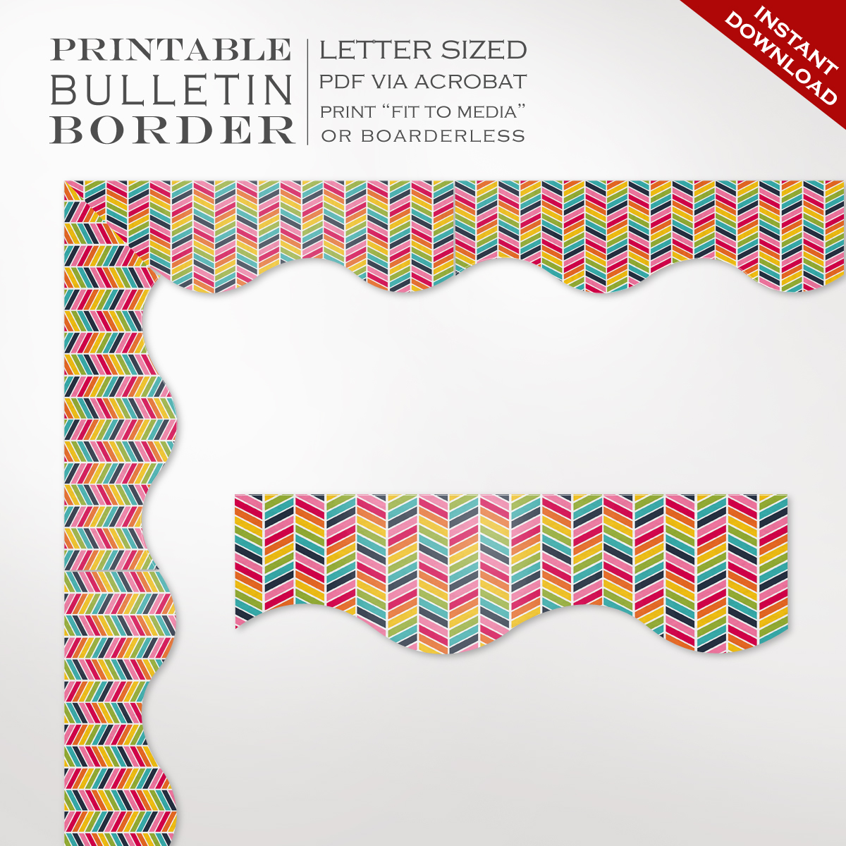 It is a photo of Playful Printable Bulletin Board Borders