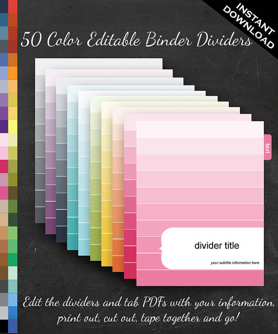 Binder Dividers Ombre Filofax A5 Faire Li