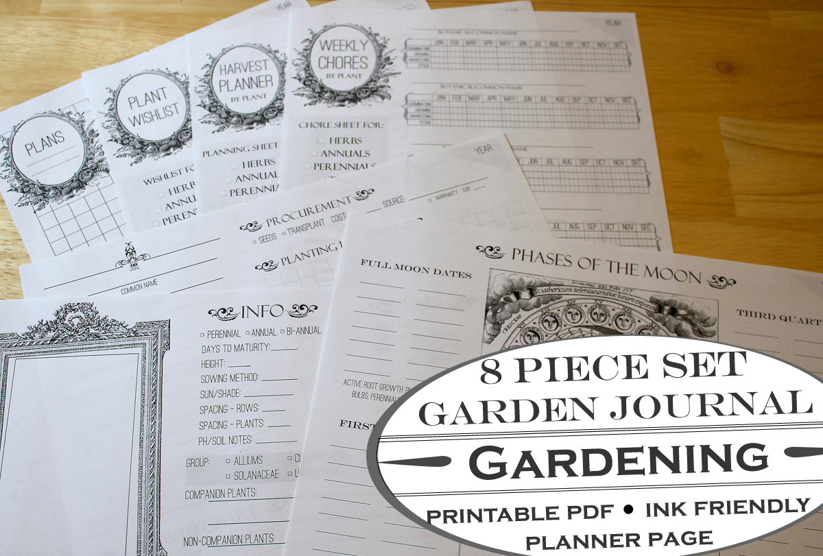 graphic regarding Printable Garden Journal known as Backyard Magazine and Housekeeping Planners Faire.li