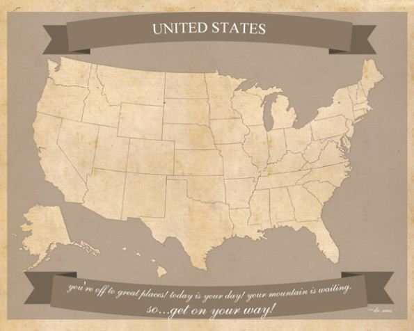 United States Travel Maps – Printable USA Travel Map Letter Size