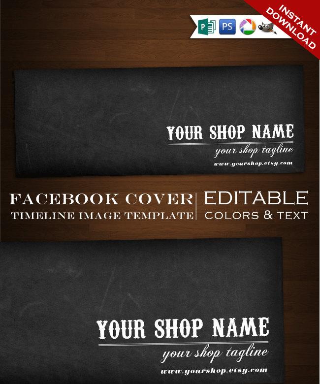Diy Facebook Timeline Cover Image Customizable Blackboard Header