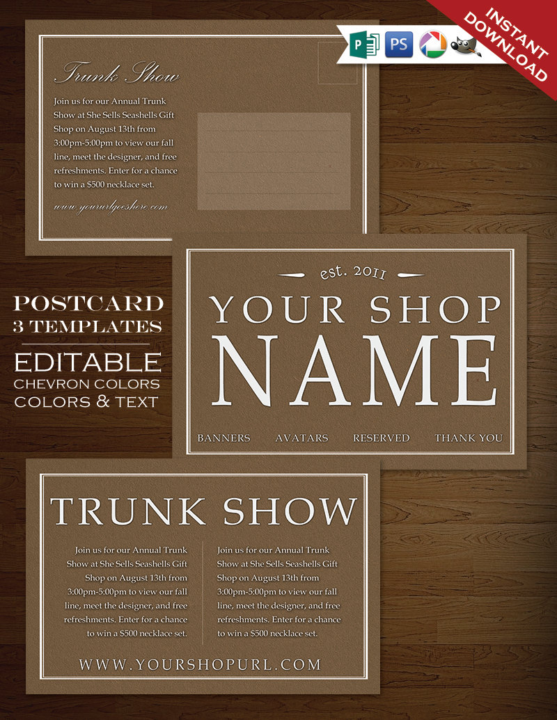 Postcard Template - Traditional Foundry Flyer Clean Simple - PSD ...