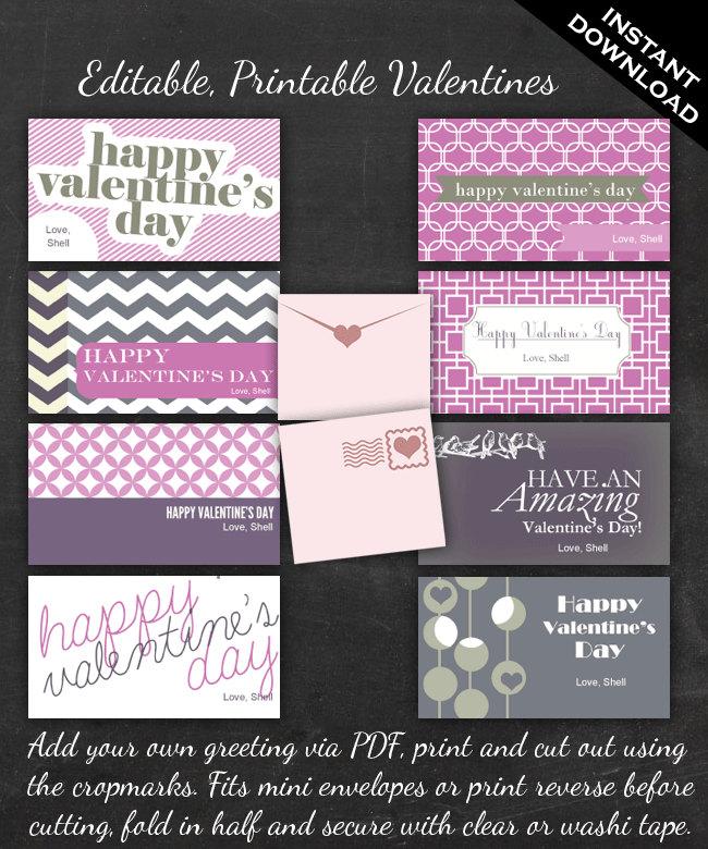 valentines card note