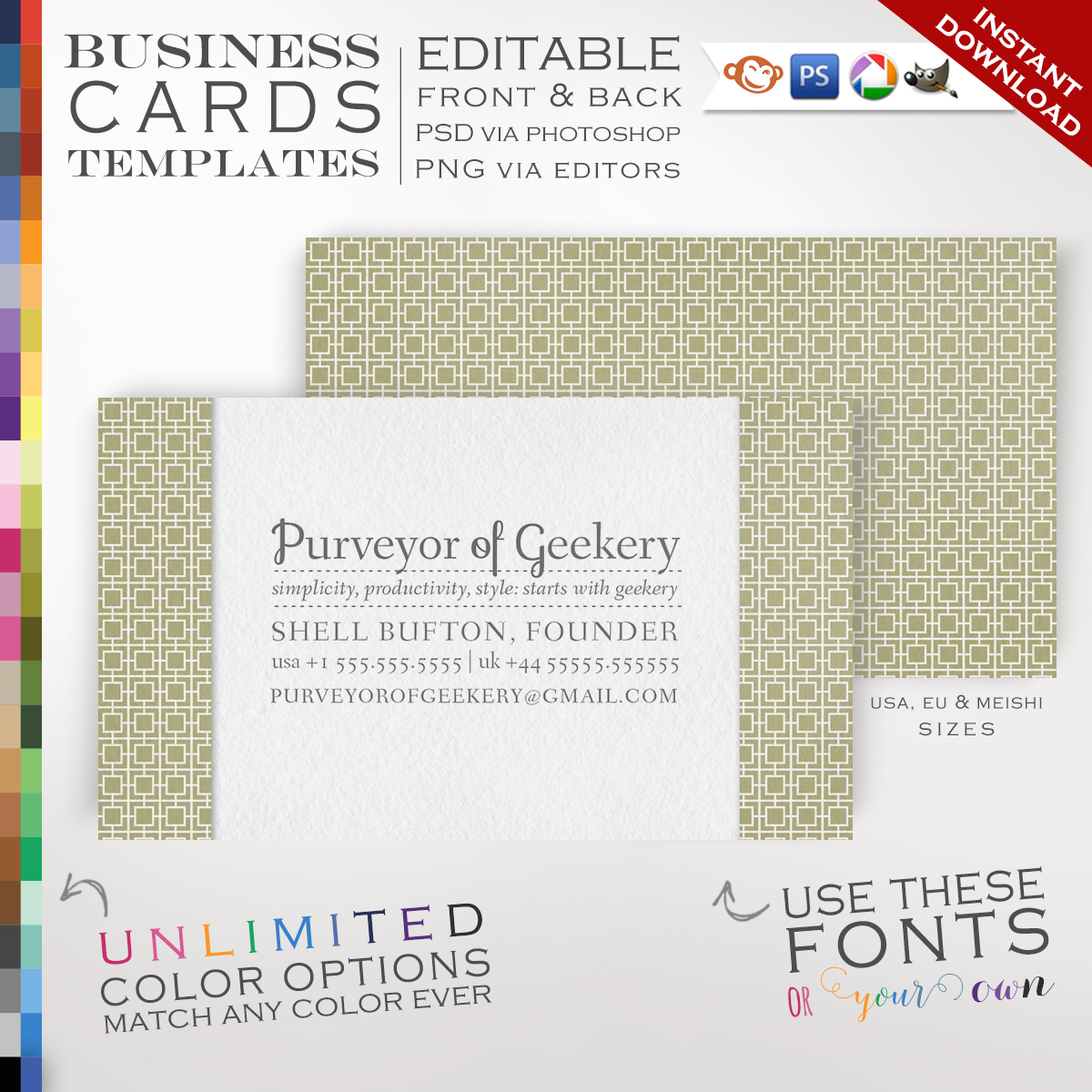 Premade mod squares business cards customizable color pattern premade mod squares business cards customizable color pattern margin design double sided pmms photoshop or free editor template faire colourmoves