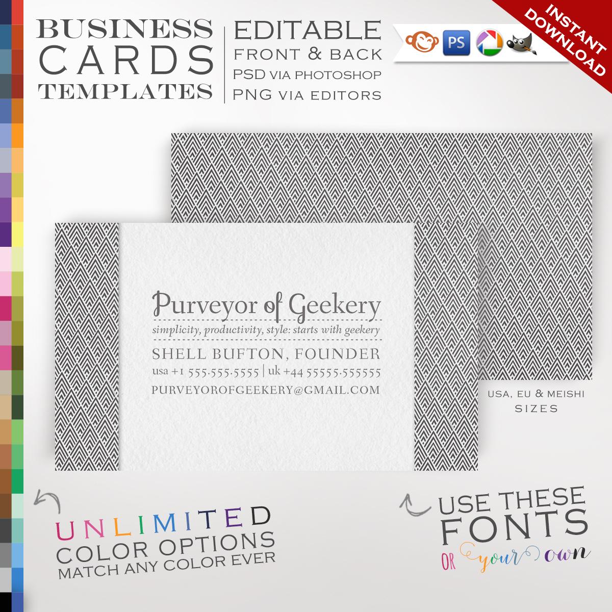 Premade Art Deco Diamonds Business Cards - Customizable Color ...