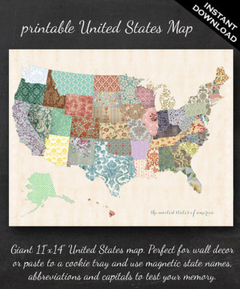 Quilted United States Map