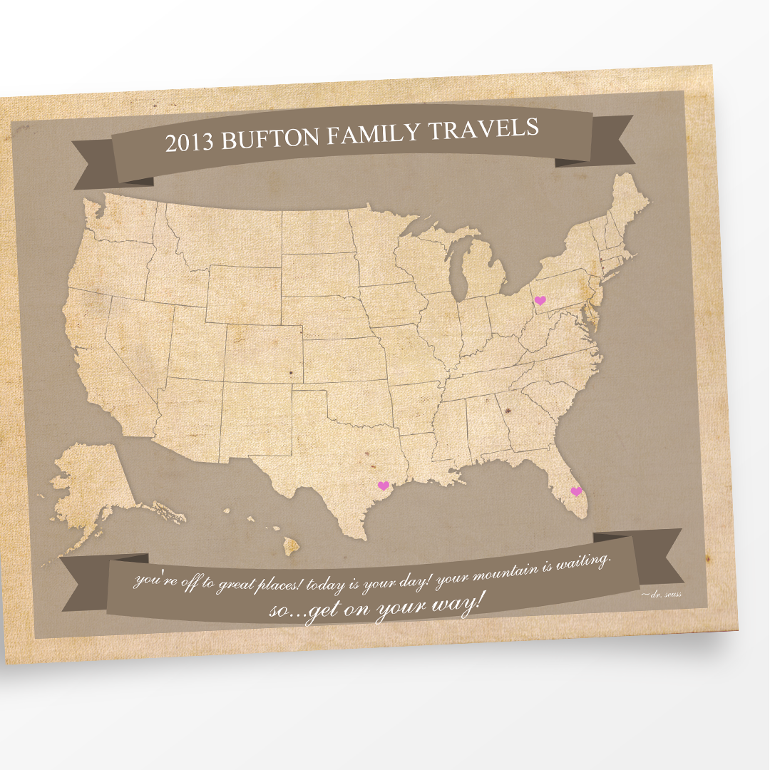 United States Travel Maps - Printable USA Travel Map Letter Size ...