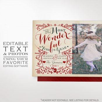Christmas Greeting Card Photo Template