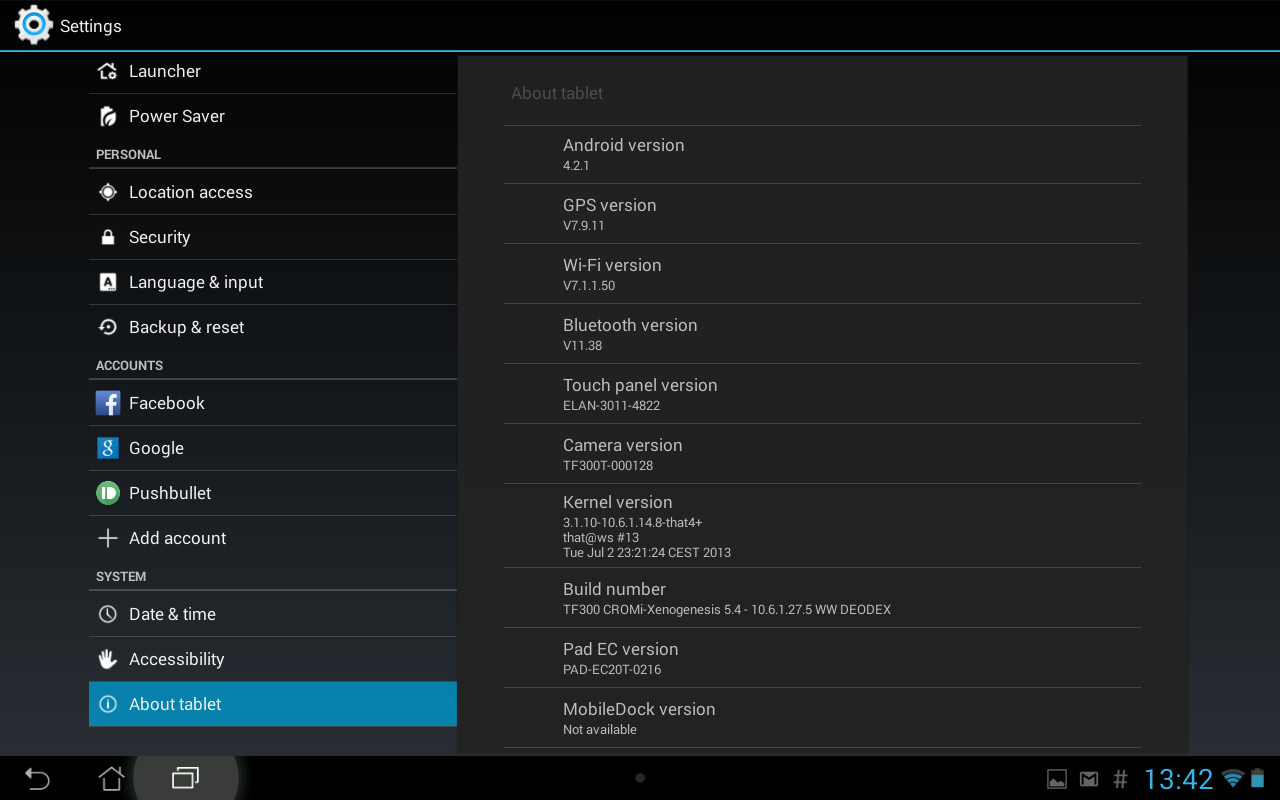My Asus tablet