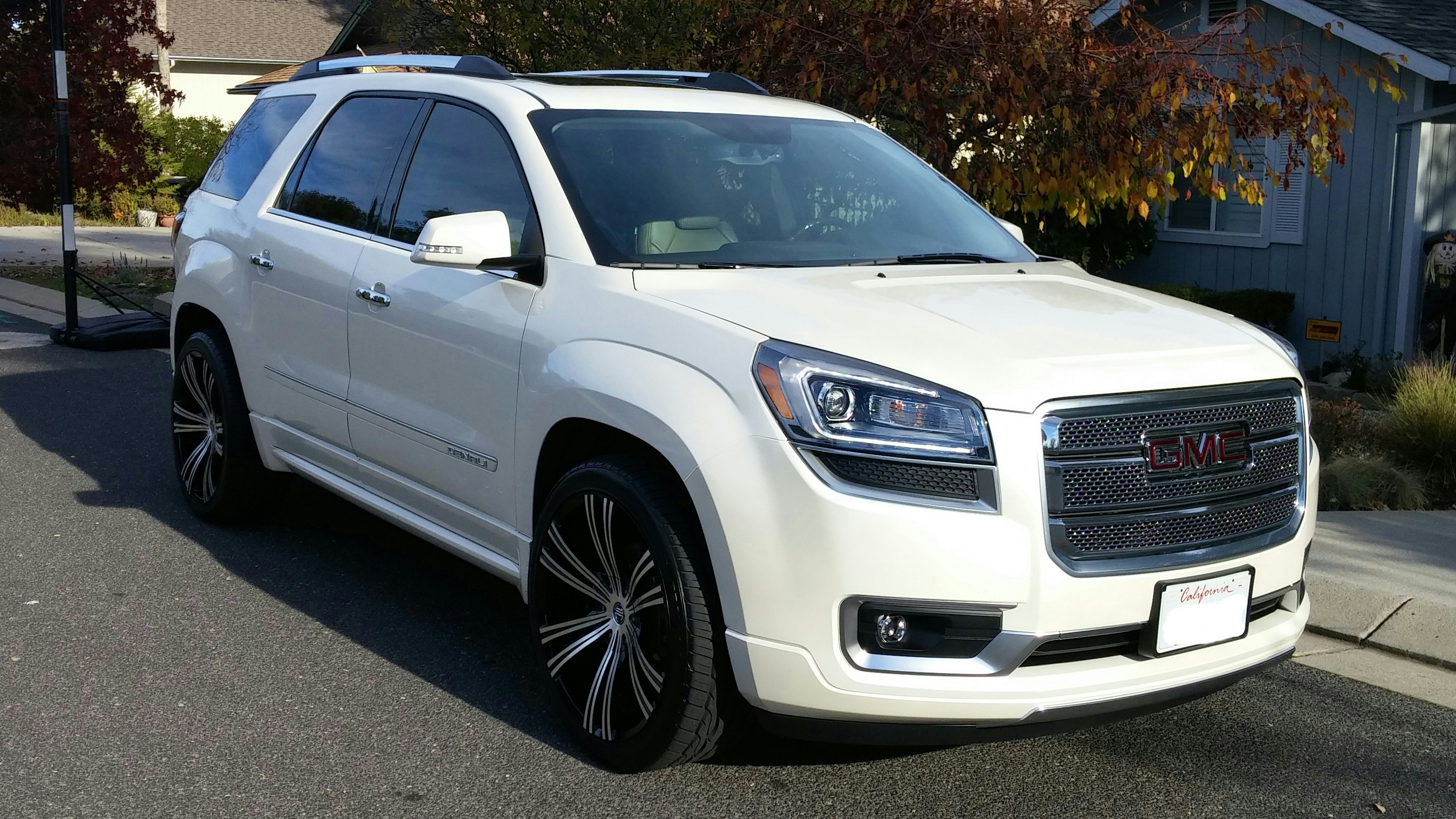 "2013 Gmc Acadia For Sale >> 2013 Acadia Denali (White Diamond) on 22"" 2Crave Wheels - GMC Acadia Forum: AcadiaForum.net"