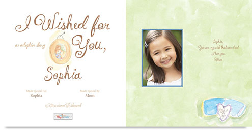 I Wished for You personalized book sample
