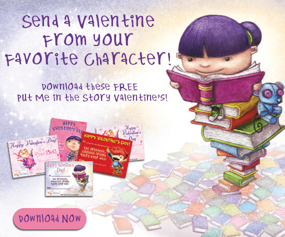 Send a Valentine from your favorite character! Download these FREE Put Me In The Story Valentines!