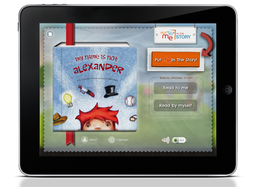 My Name is Not Alexander by Jennifer Fosberry, Children's Picture Book App