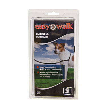 Easy Walk Nylon Adjustable Dog Harness - Black thumbnail1