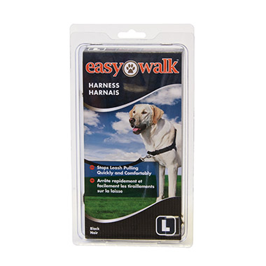 Easy Walk Nylon Adjustable Dog Harness - Black thumbnail3
